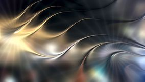 Abstract metallic 3d wave background