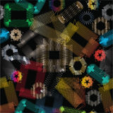 Abstract metallic elements Stock Images