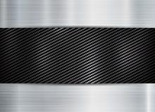 Abstract metallic frame carbon kevlar texture on metal texture backgroun vector illustration