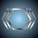Abstract metallic hexagon shape Stock Photography