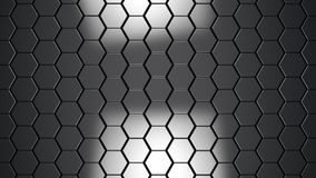 Abstract metallic hexagons background. 3d render illustration Royalty Free Stock Photo