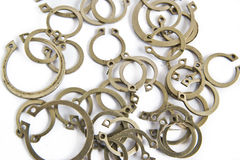 Abstract metallic rings Stock Images