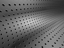 Abstract Metallic Silver Background Perforated By Many Little Ho Royalty Free Stock Image