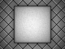 Abstract Metallic Silver Blocks Pattern Background. 3d Render Illustration Stock Image
