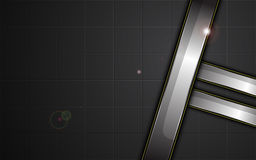 Abstract metallic silver frame on sports tech concept background Stock Photo