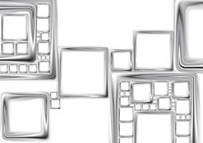 Abstract metallic squares vector tech design Stock Photography