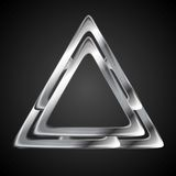 Abstract metallic triangle logo design template. Vector background Royalty Free Stock Photography