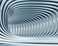 Abstract metallic tunnel royalty free stock photo