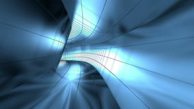 Abstract metallic tunnel stock footage
