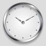 Abstract metallic vector clock design Royalty Free Stock Images
