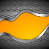 Abstract metallic vector corporate wavy design Royalty Free Stock Photo