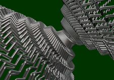 Abstract metallic wires. 3d render Stock Images