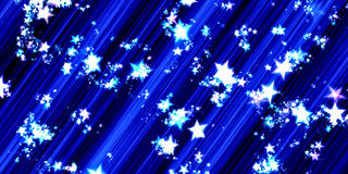 Abstract meteor rain of stars in Blue. Creative Design Templates Stock Photo