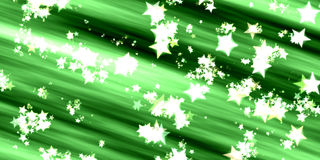 Abstract meteor rain of stars in Green. Creative Design Templates Stock Image