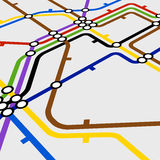 Abstract metro map Royalty Free Stock Images