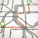 Abstract metro scheme Stock Photos