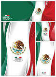 Abstract Mexico Flag Background. Mexico flag abstract colors background. Collection banner design. brochure vector illustration Stock Photo