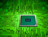 Abstract microchip. Motherboard circuit with abstract microchip Royalty Free Stock Images