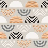 Abstract mid century pattern. Vector seamless mid century absctract geometric pattern. Retro design Royalty Free Stock Image