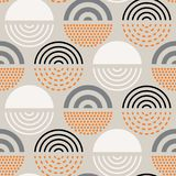 Abstract mid century pattern. Vector seamless mid century absctract geometric pattern. Polygonal retro design Royalty Free Stock Photography