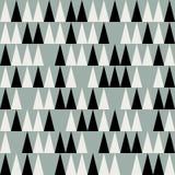 Abstract mid century polygonal pattern. Vector seamless mid century absctract geometric pattern. Polygonal retro design Royalty Free Stock Photo