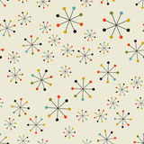 Abstract mid century space pattern Royalty Free Stock Images