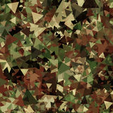 Abstract Military Camouflage Background. Made of Geometric Triangles Shapes Royalty Free Stock Photo