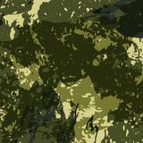 Abstract Military Camouflage Background Made of Splash. Camo Pattern for Army Clothing. Vector Stock Photo