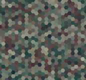 Abstract Military Camouflage Background. Abstract Seamless Military Camouflage Background. Pattern Made of Geometric Hexagon Shapes Royalty Free Stock Photos