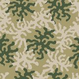 Abstract military or hunting camouflage background. Textures for soldiers, hunters and fishermen. Ornament for tiles and fabrics stock illustration
