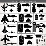 Abstract Military Silhouettes. Vector Collection Royalty Free Stock Image