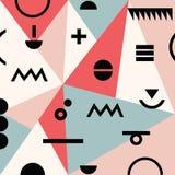 Abstract minimaal geometrisch modern van Memphis materieel patroon als achtergrond Royalty-vrije Stock Afbeeldingen