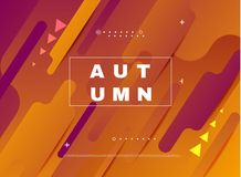 Abstract minimal background, autumn sale. Royalty Free Stock Images