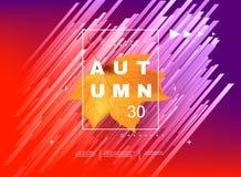 Abstract minimal background, autumn sale. Stock Photos
