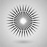Abstract minimal black and white star for design Eps 10 stock photography illustration.  Royalty Free Stock Photography