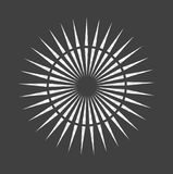 Abstract minimal black and white star for design Eps 10 stock photography illustration.  Royalty Free Stock Images