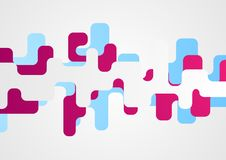 Abstract minimal colorful geometric shapes background Stock Photography