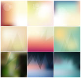 Abstract Minimal concept vector blurred background collection. For Web and Mobile Applications Vector Illustration
