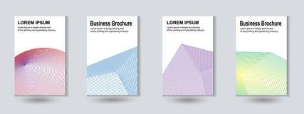 Abstract Minimal covers set. Future geometric design. Vector illustration royalty free illustration