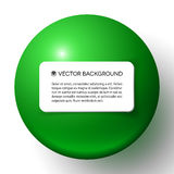 Abstract minimal frame with green ball. And copy space Royalty Free Illustration