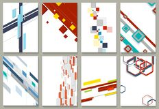 Abstract minimal geometric backgrounds set Royalty Free Stock Photography