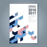 Abstract minimal geometric line background for business annual report book. Cover brochure flyer poster Stock Photography