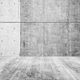 Abstract minimal interior, empty concrete room. Fragment with wall and floor Royalty Free Stock Image