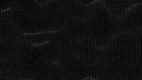 Abstract minimal morphing dot surface in seamless loop. Abstract dot surface in seamless loop - possible keying stock video