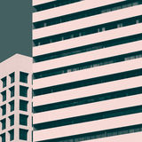 Abstract minimal style architecture. Modern building facade deta Royalty Free Stock Photography