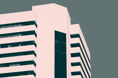 Abstract minimal style architecture. Modern building facade deta Royalty Free Stock Image
