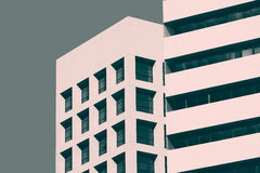 Abstract minimal style architecture. Modern building facade deta Stock Photos