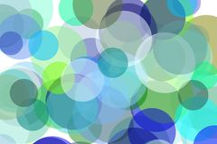 Abstract green and blue circles illustration background. Abstract minimalist green and blue illustration with circles useful as a background Royalty Free Stock Photography