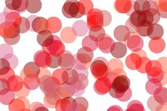 Abstract red circles illustration background. Abstract minimalist red illustration with circles useful as a background stock illustration