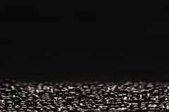 Abstract minimalistic black striped background with horizontal lines and header. Copy space . Royalty Free Stock Photos